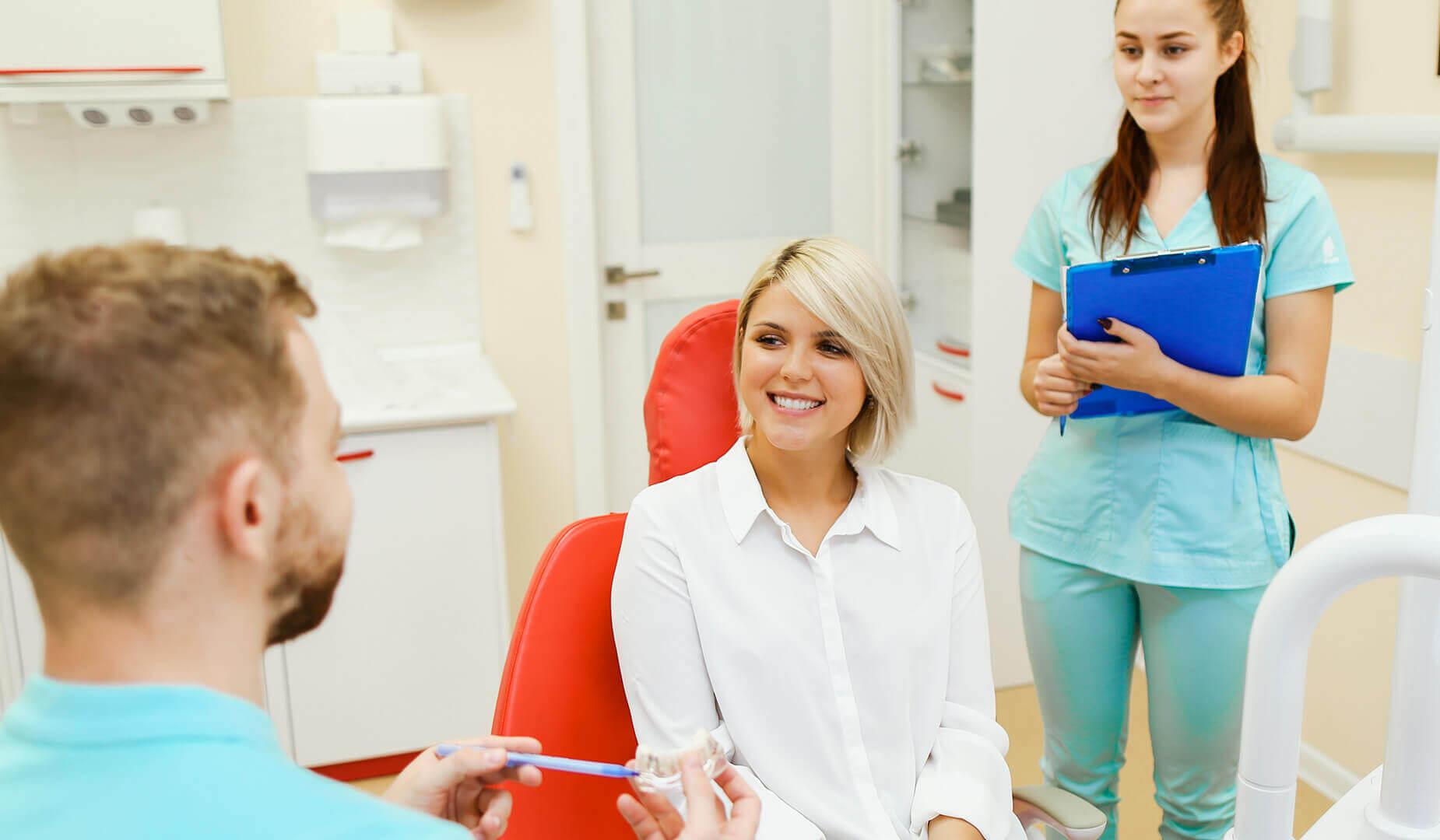 Пациентка на приёме у врача