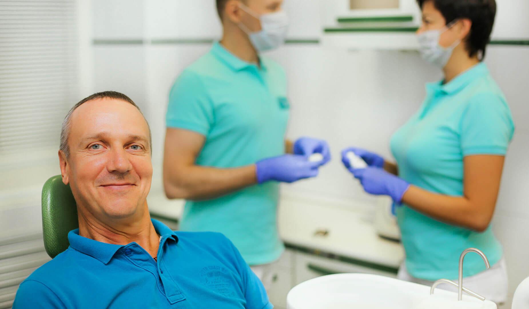 Наш пациент доволен и улыбается