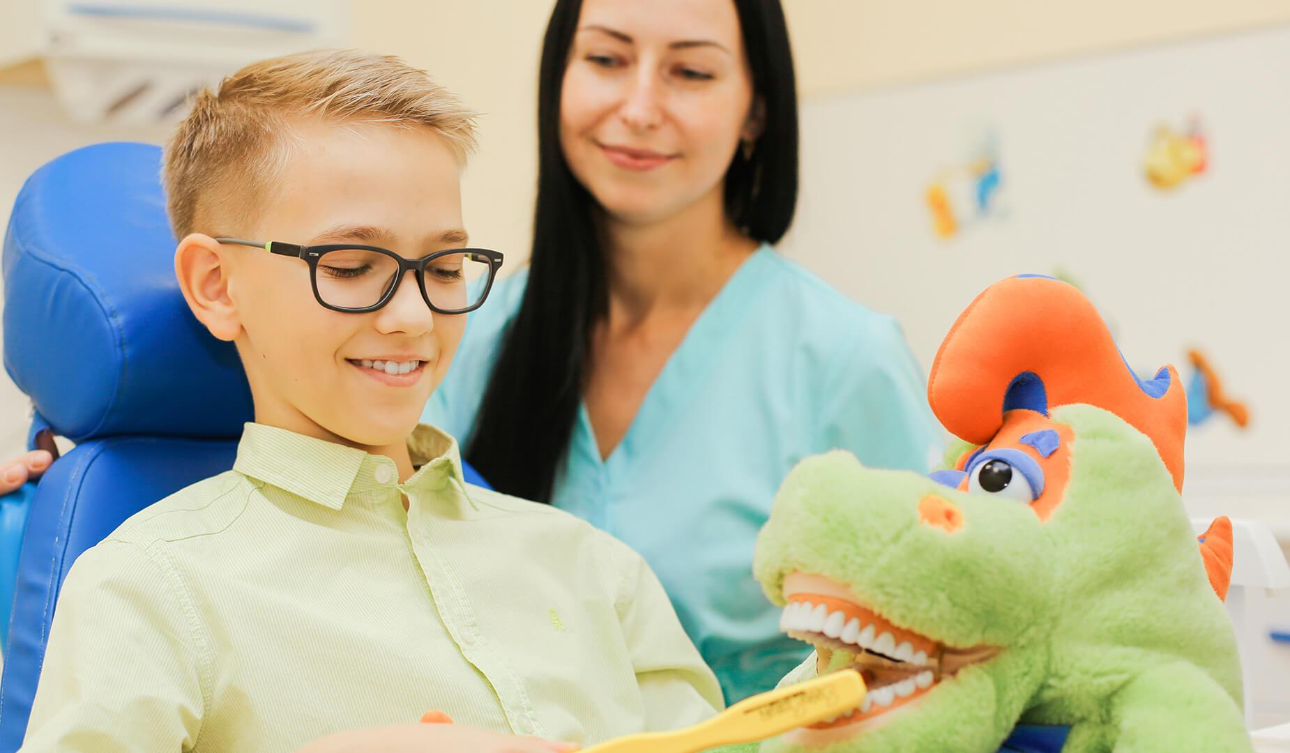 Маленький пациент на приёме у стоматолога